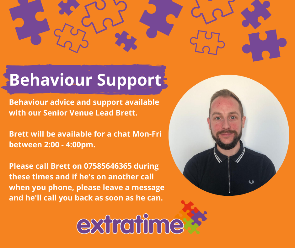 Offering a behaviour Support line with our Senior Venue Lead Monday to Friday from 2pm to 4pm on 07585646365